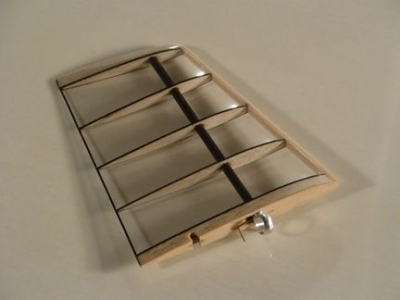 Fin, clear mylar covered