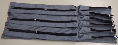 Sewn pockets for model case
