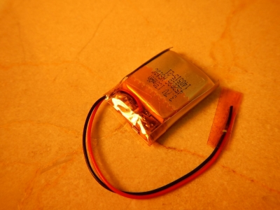 130 MaH; 4.4 gram Battery with Electronic Protection