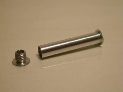 Rear Peg for 30 mm Tube - 6 mm dia 28 mm long
