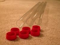 Plastic Tube with caps - set of 3